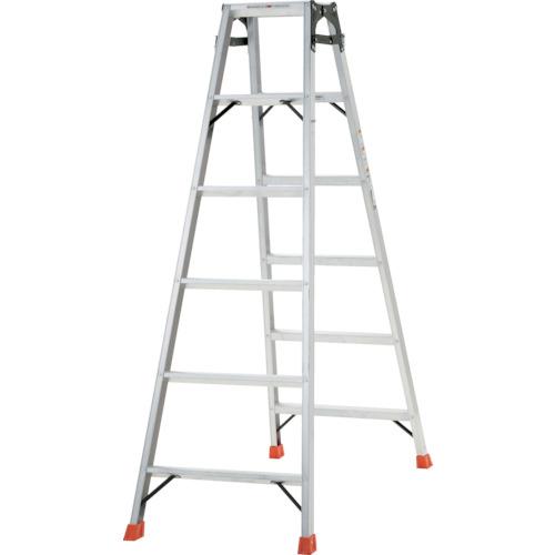 トラスコ中山 TRUSCO はしご兼用脚立 アルミ合金製・脚カバー付 高さ1.69m THK-180