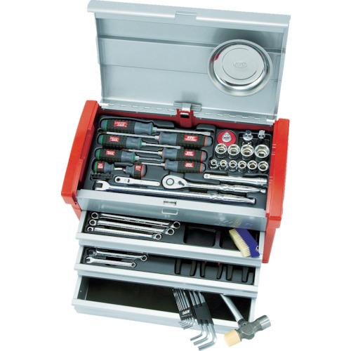 京都機械工具 KTC 12.7sq.工具セット(チェストケース) SK4580E
