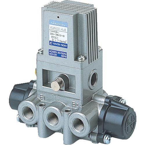 日本精器 日本精器 4方向電磁弁8AAC100V7Mシリーズシングル BN-7M43-8-E100 BN-7M43-8-E100