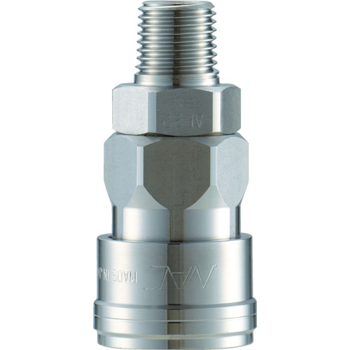 長堀工業 ナック クイックカップリング AL40型 ステンレス製 メネジ取付用 CAL48SM3 CAL48SM3