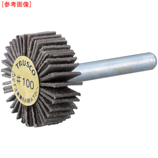 トラスコ中山 TRUSCO ダイヤ軸付フラップホイール オールダイヤ Φ50X軸径6 400# P-DF5020-6A P-DF5020-6A-400