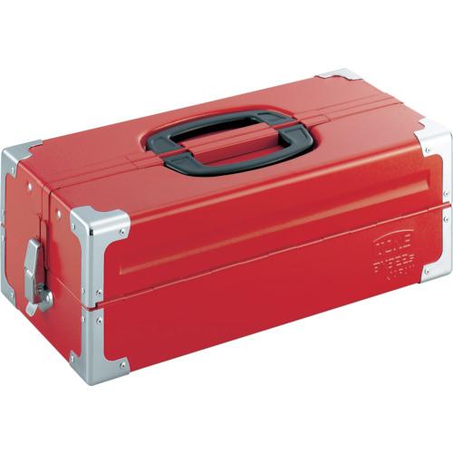 前田金属工業 TONE ツールケース(メタル) V形2段式 433X220X160mm レッド BX322S BX322S