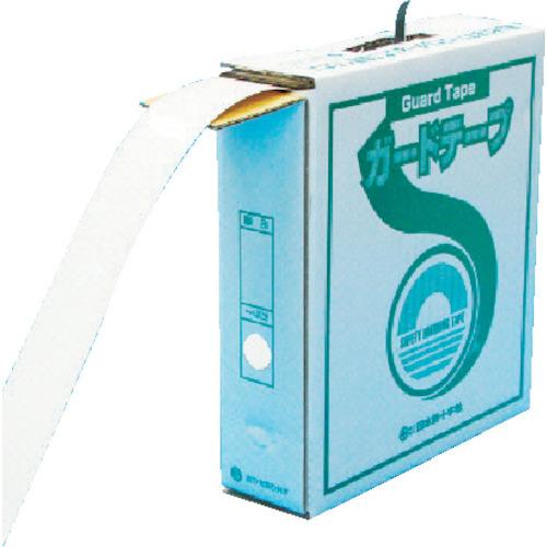 日本緑十字社 緑十字 ラインテープ(ガードテープ) 白 再剥離タイプ 50幅×100m 屋内用 149031