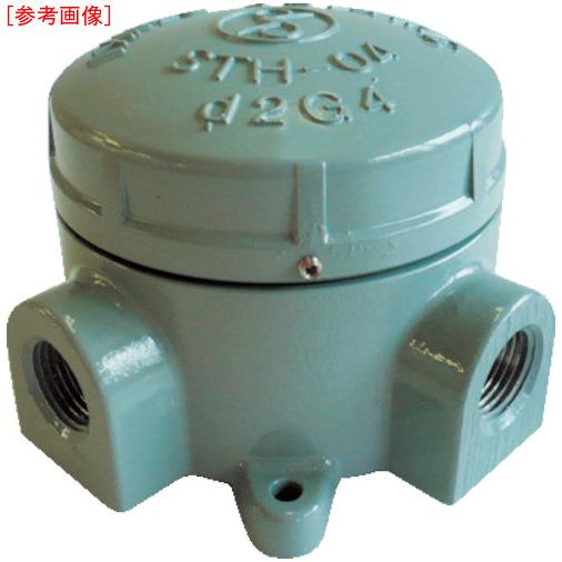 島田電機 島田 アルミニウム合金鋳物 耐圧防爆構造ターミナルボックス(四方向) STH-04X-22 STH-04X-22