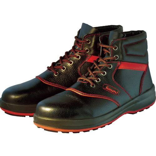 シモン シモン 安全靴 編上靴 SL22-R黒/赤 25.5cm SL22R-25.5
