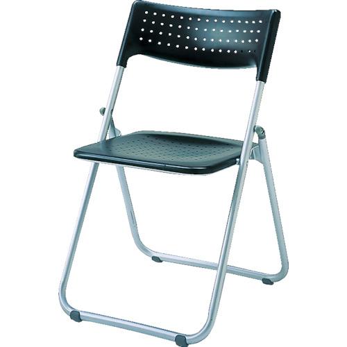 アイリスチトセ アイリスチトセ アルミ折りたたみ椅子(スタッキング) アルミパイプ ブラック SS-A027-BK