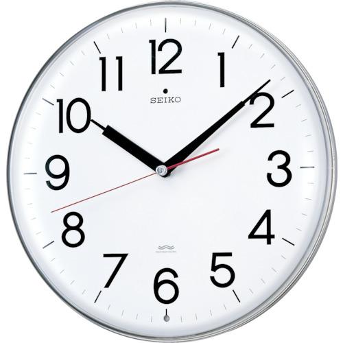 セイコークロック SEIKO アクリルカバー電波掛時計 直径294×47 白 KX301H KX301H