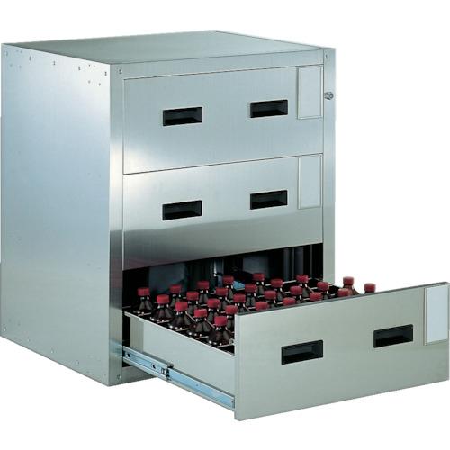 トラスコ中山 TRUSCO 耐震薬品庫 705X600XH800 3段引出型 SYW-3