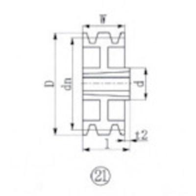 エバオン EVN ブッシングプーリー SPA 315mm 溝数3 SPA315-3 (SPA3153) SPA315-3