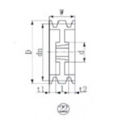 エバオン EVN ブッシングプーリー SPZ 300mm 溝数3 SPZ300-3 (SPZ3003) SPZ300-3