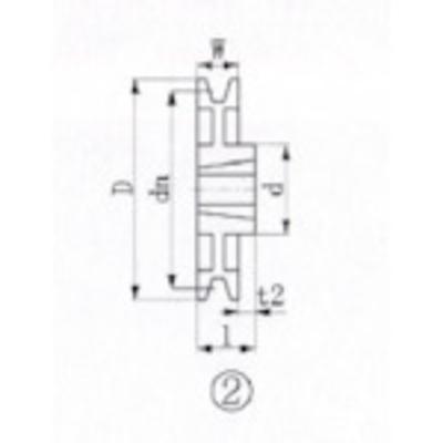 エバオン EVN ブッシングプーリー SPB 300mm 溝数1 SPB300-1 (SPB3001) SPB300-1