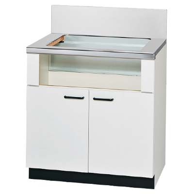 リンナイ 専用キャビネット 幅75cmタイプ(ホワイト) UKC-7502-W