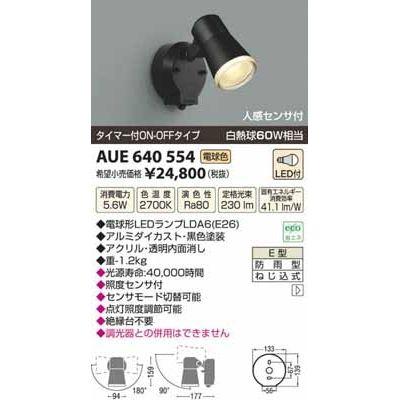 コイズミ LED防雨型スポット AUE640554