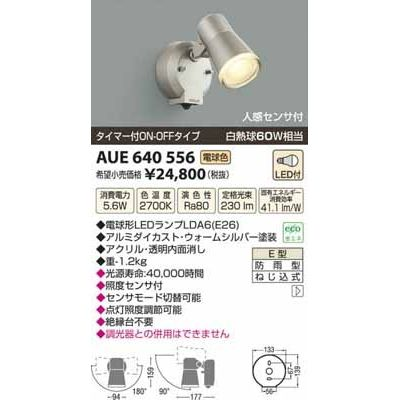 コイズミ LED防雨型スポット AUE640556