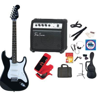 PhotoGenic(フォトジェニック) PhotoGenic フォトジェニック エレキギター TG75 アンプセット ST-180/HBK マッチングヘッドブラック ST180HBK-TG75