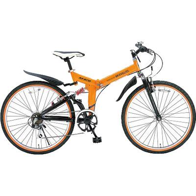 マイパラス 26インチ 折畳ATB自転車 6SP・Wサス オレンジ M-670-OR【納期目安:04/12入荷予定】