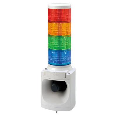 パトライト LED積層信号灯付電子音報知器 LKEH-420FC-RYGB【納期目安:1週間】