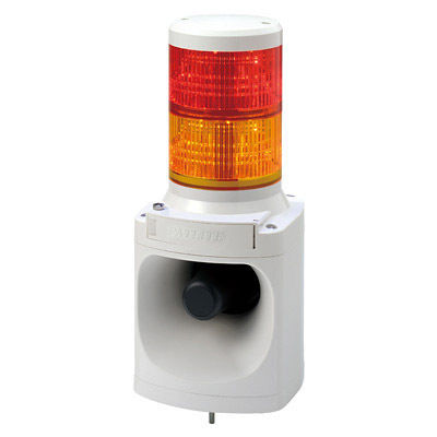 パトライト LED積層信号灯付電子音報知器 LKEH-220FE-RY【納期目安:1週間】