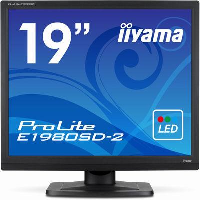 イーヤマ <ProLite>19インチ スクエア 液晶ディスプレイ(1280x1024/D-Sub15Pin/DVI/スピーカー/LED/ノングレア/TNパネル/マーベルブラック) E1980SD-B2【納期目安:追って連絡】
