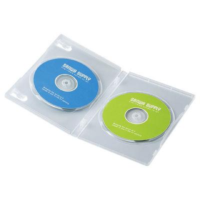送料無料 即納最大半額 サンワサプライ DVDトールケース 2枚収納 大人気 DVD-TN2-10C