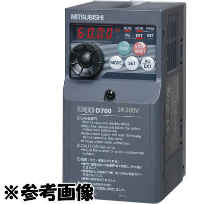 三菱電機 簡単・小形インバータ FREQROL-D700シリーズ 三相200V FR-D720-1.5K FR-D720-1.5K