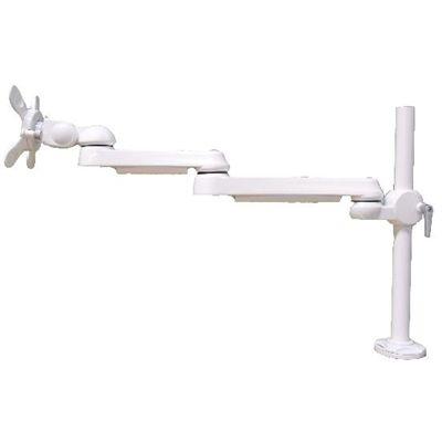 モダンソリッド 水平多関節アーム(ネジ固定)ホワイトモデル LA-51AC-1Q-WH (LA51AC1QWH) LA-51AC-1Q-WH