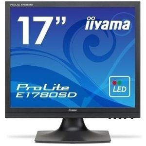 イーヤマ <ProLite>17インチ スクエア 液晶ディスプレイ(1280x1024/D-Sub15Pin/DVI/スピーカー/LED/ノングレア/TNパネル/マーベルブラック) E1780SD-B1
