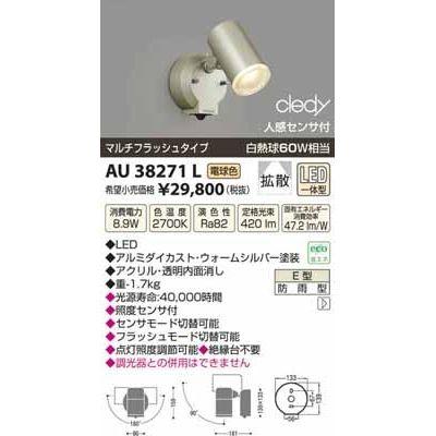 コイズミ LEDアウトドアスポット AU38271L