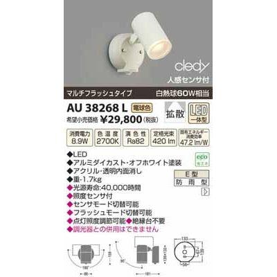 コイズミ LEDアウトドアスポット AU38268L