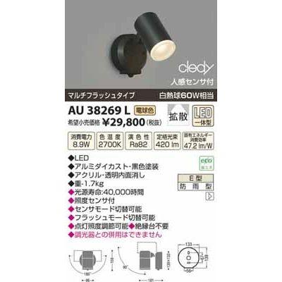 コイズミ LEDアウトドアスポット AU38269L
