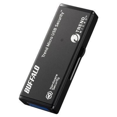 バッファロー ハードウェア暗号化機能 USB3.0 セキュリティーUSBメモリー ウイルススキャン3年 32GB (RUF3HSL32GTV3) RUF3-HSL32GTV3