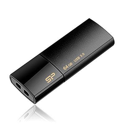 シリコンパワー USB3.0フラッシュメモリ64GB Blaze B05 ブラック S7400ET【納期目安:1週間】