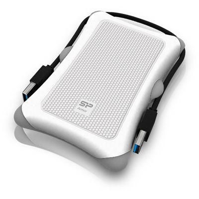 シリコンパワー Armor A30 USB3.0対応ポータブルハードディスク 1000GB(1TB) ホワイト S7400FM【納期目安:2週間】