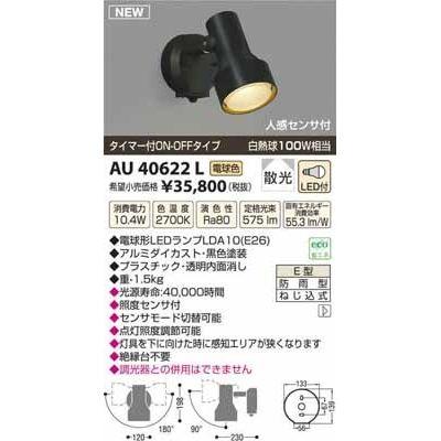コイズミ LEDアウトドアスポット AU40622L