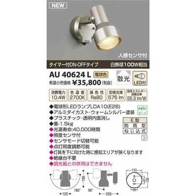 【カード決済OK】コイズミ LEDアウトドアスポット AU40624L