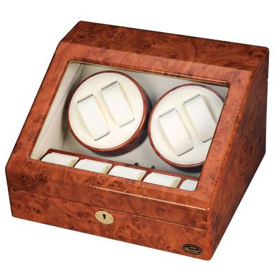 LUHW(ローテンシュラガー) 逸品が奏でる回転リズム!木製4連LEDワインディングマシーン LU30004RD