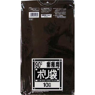 送料無料 専門店 日本サニパック サニパック 05-0693-0404 N-92Nシリーズ90L黒 未使用 10枚