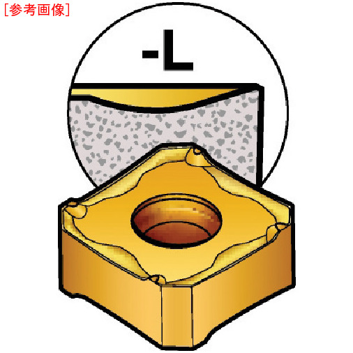 サンドビック 【10個セット】サンドビック コロミル345用チップ 1020 345R-1305E-KL-1020-8716