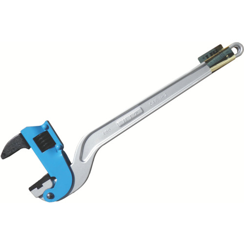 ヒット商事 HIT ブルー アルミコーナーパイプレンチ 白管、被覆管 兼用 450mm ACPW450J 4953830218366