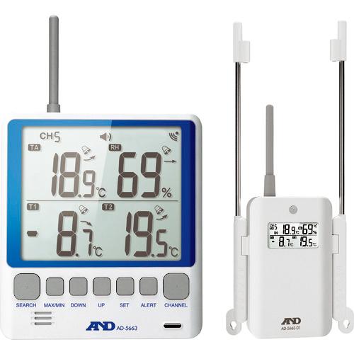エー・アンド・デイ A&D マルチチャンネル温湿度計 4981046449403