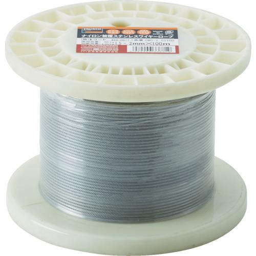 トラスコ中山 TRUSCO ステンレスワイヤロープ ナイロン被覆 Φ1.5(2.0)mmX10 4989999336719