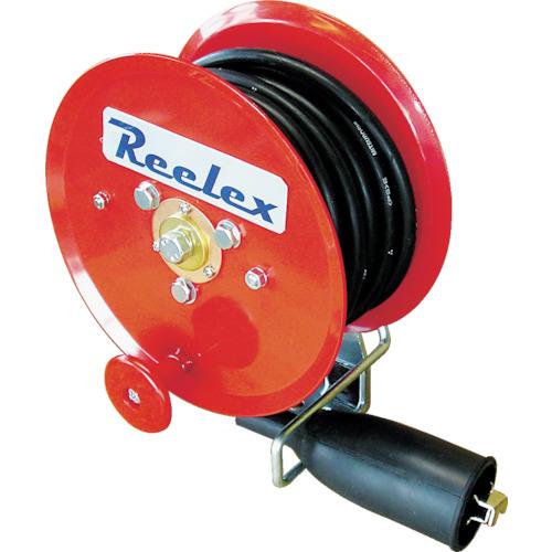 中発販売 Reelex 手動巻アースリール 5.5SQ×10m 50Aアースクリップ付 4993091100239