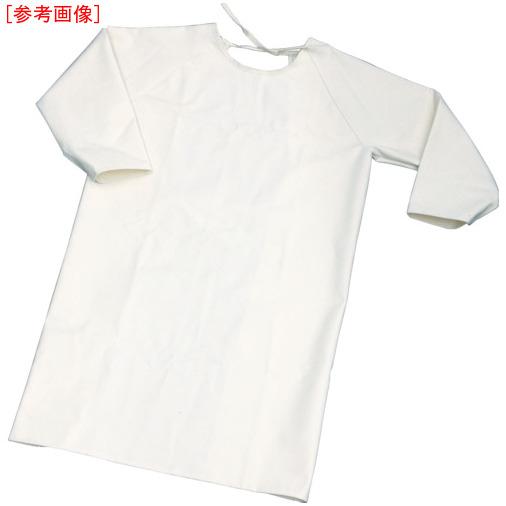 トラスコ中山 TRUSCO 難燃加工綿保護具 袖付前掛け LLサイズ 4989999354751