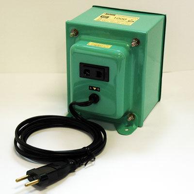 日章工業 アップ/ダウントランス(AC220⇔AC100V、1000W) MF-1000E【納期目安:3週間】