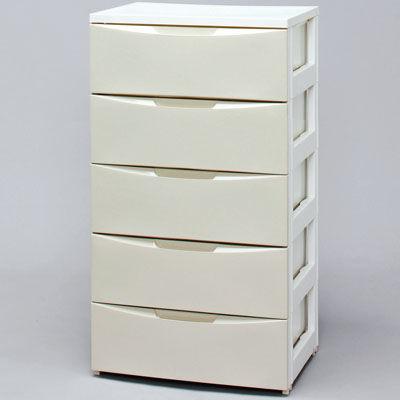 アイリスオーヤマ ワイドチェスト COD-555 ホワイト/アイボリー 4905009964185