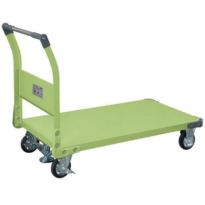 サカエ 特製四輪車 フロアストッパー付 TAN-66F