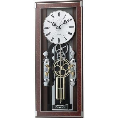 リズム時計 電波時計 掛け時計 からくり機能 30曲入り ソフィアーレプリモ(ブラウン) 4MN535SR23