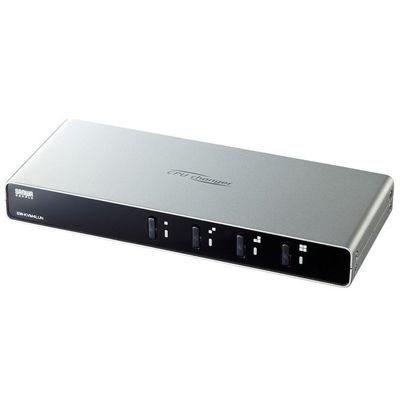 サンワサプライ パソコン自動切替器(4:1) SW-KVM4LUN