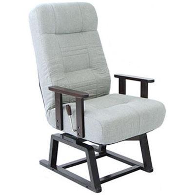 ヤマソロ 【晶】コイルバネ式回転高座椅子 GY 83-993