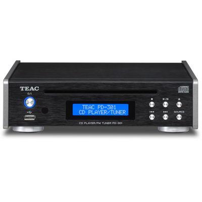 TEAC ワイドFM、USBメモリーからの音楽再生にも対応CDプレーヤー/FMチューナー PD-301-B【納期目安:1週間】